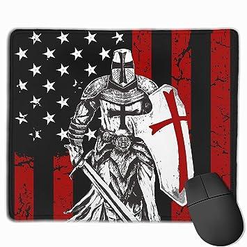 CGMYYXG Cojín de ratón de la Bandera Americana de Knight ...