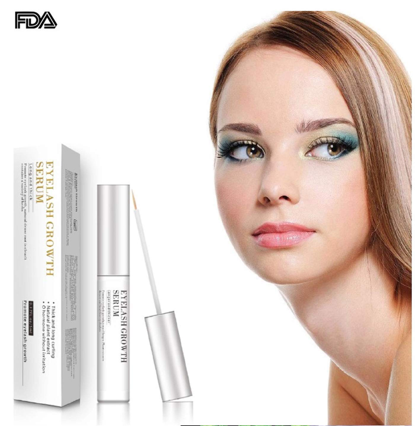 331b5e9008f Amazon.com: Eyelash Growth Serum lash Growth Serum for Eyelash and Eyebrow  Growth Enhancer Eyelash Growth Liquid Rapid Growth grows Thicker Longer  Natural ...
