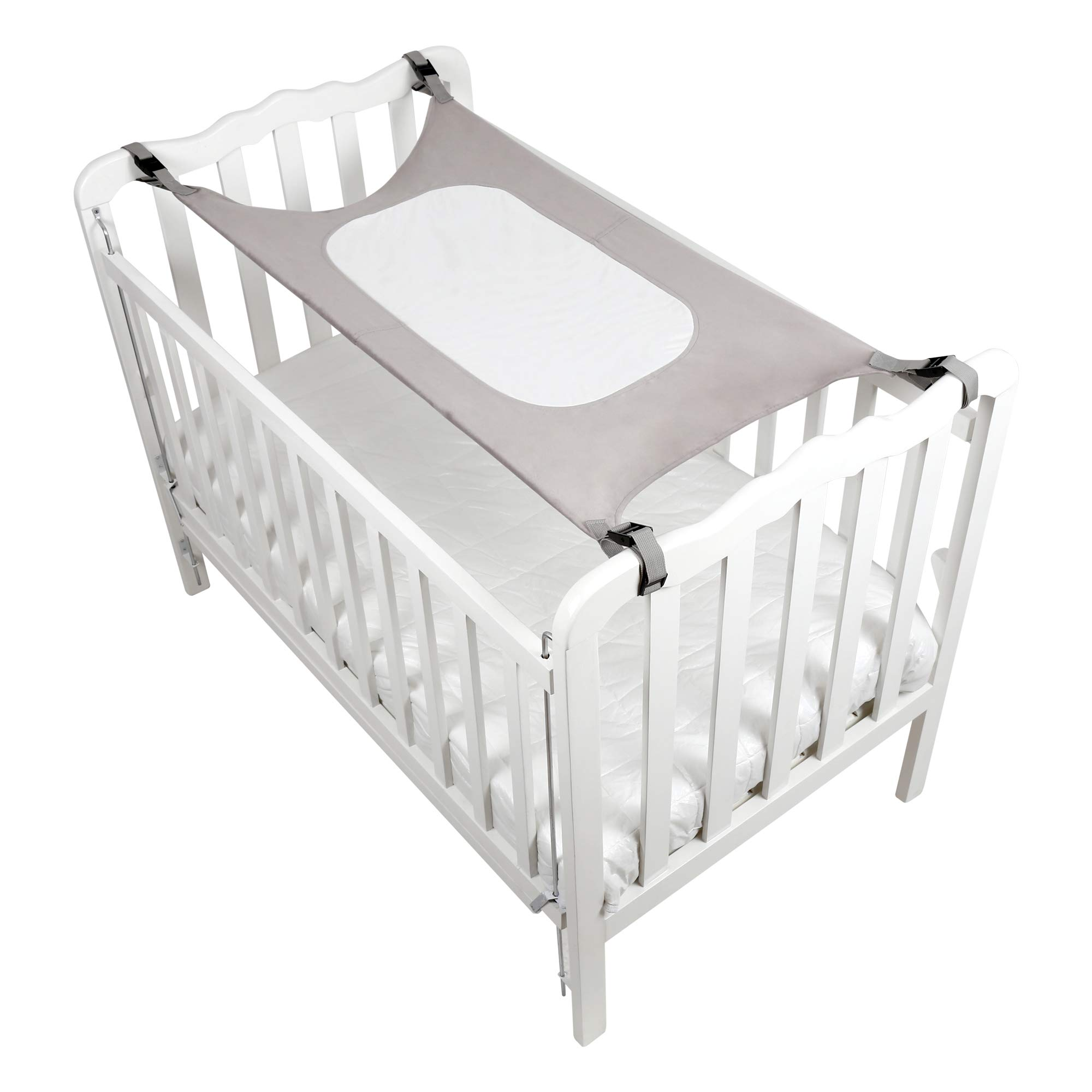 Baby Crib Hammock by Easy Gorilla - Newborn Bed Sleeping Essentials for Boys and Girls - Breathable and Portable - Infant Sleep Comfort Gifts for Indoor Cot - Cradle - Safety Mesh Nursery Nap Hammocks by EasyGorilla (Image #9)