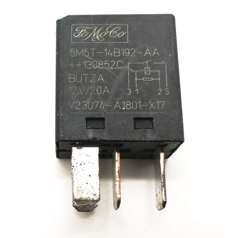 2 Pack 5M5T-14B192-AA Genuine Ford Multi-Use 4-Pin Black Relay FoMoCo V23074-A1801-X17
