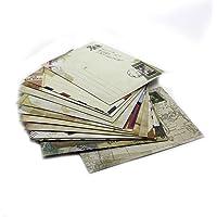 Lot de 12 petites enveloppes style postes européennes, pour cartes de vœux