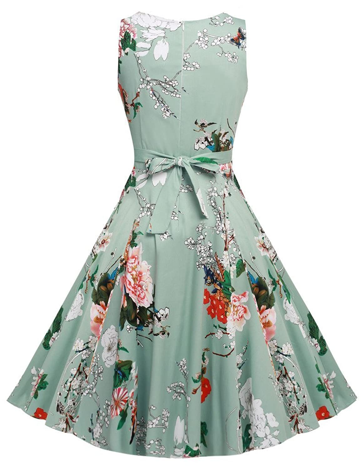 Amazon.com: ARANEE Vintage Classy Floral Sleeveless Party Picnic ...