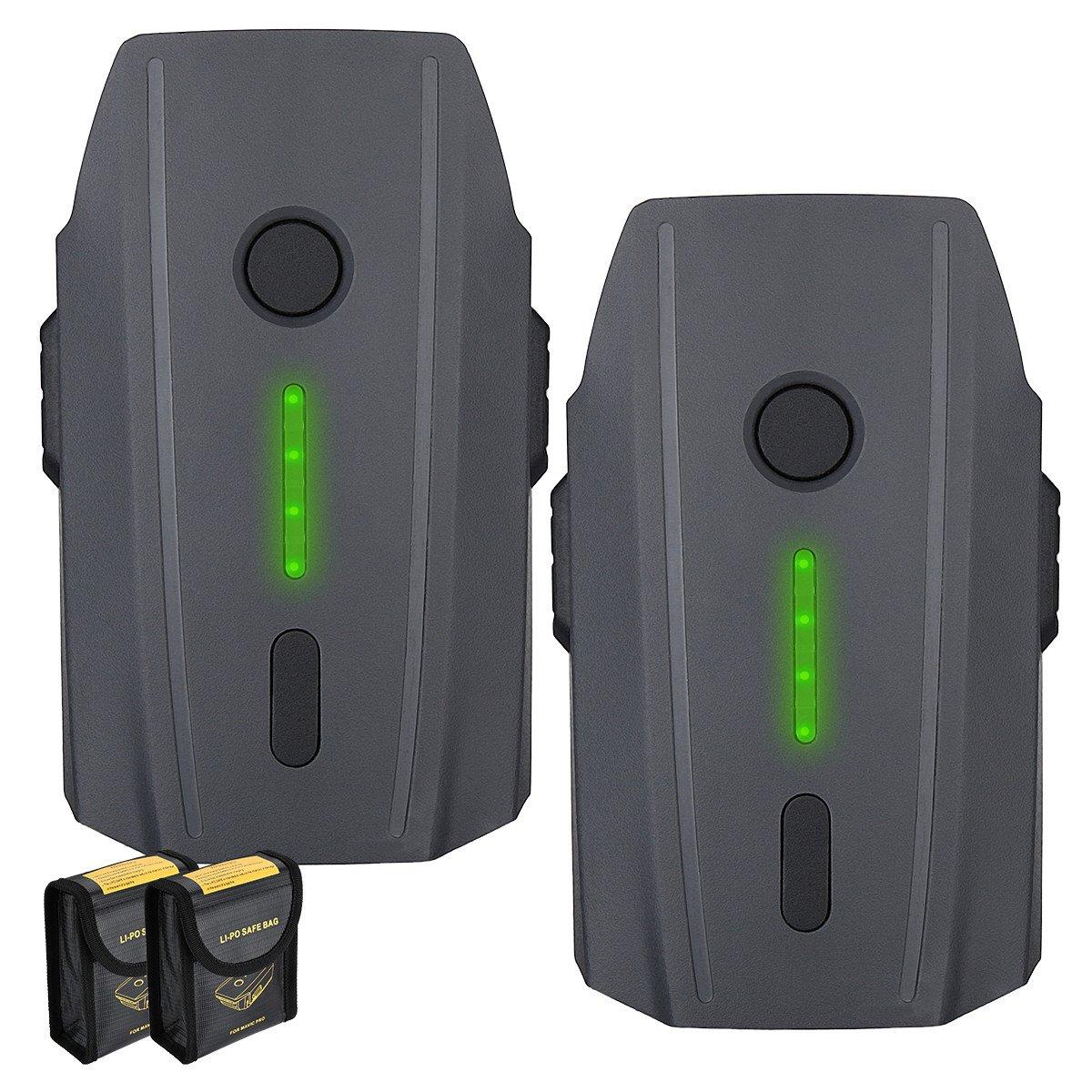 Powerextra Mavic Pro Battery 2-Pack 11.4V 3830 mAh LiPo Intelligent Flight Battery Replacement for DJI Mavic Pro /& Platinum /& Alpine White Drone Not Fit for Mavic 2