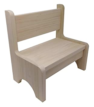 Peachy Amazon Com Hollandcraft Toddler Bench Chair Unfinished Lamtechconsult Wood Chair Design Ideas Lamtechconsultcom