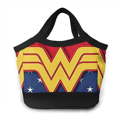 e043b716f370 Amazon.com: Lunch Box Wonder Woman (3) Insulated Travel Picnic ...