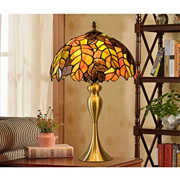 Amazon.com: 12-inch 2 Style Retro Table Lamp Elegant Maple ...