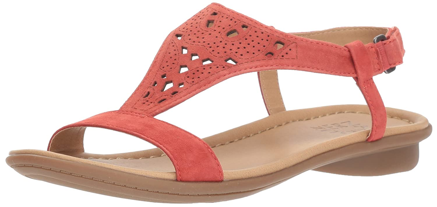 Naturalizer Women's Windham Flat Sandal B0787LNRB2 7 N US|Red