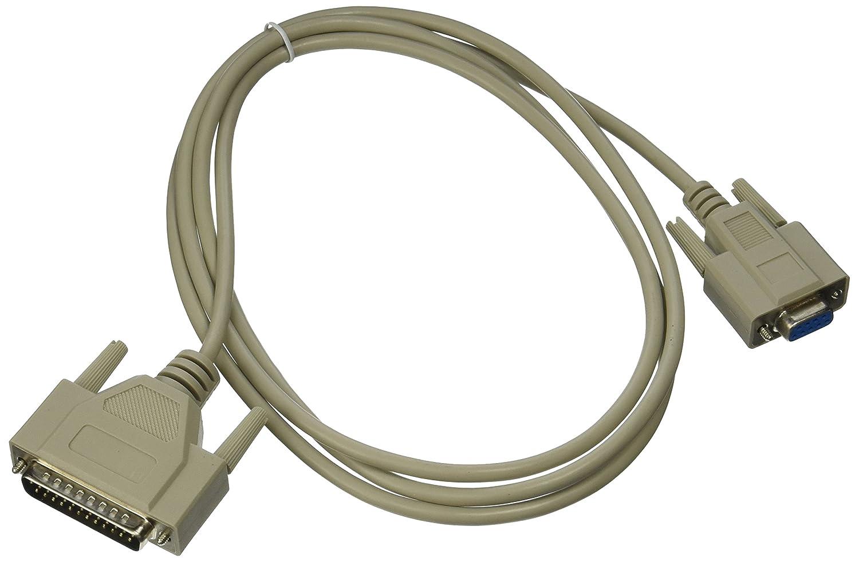 HP - Rollo cable serie de impresora láser, DB9 hembra a DB25 macho ...