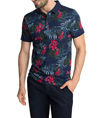 Esprit edc by Mit Hawaii Muster - Polo para Hombre, Color Azul ...