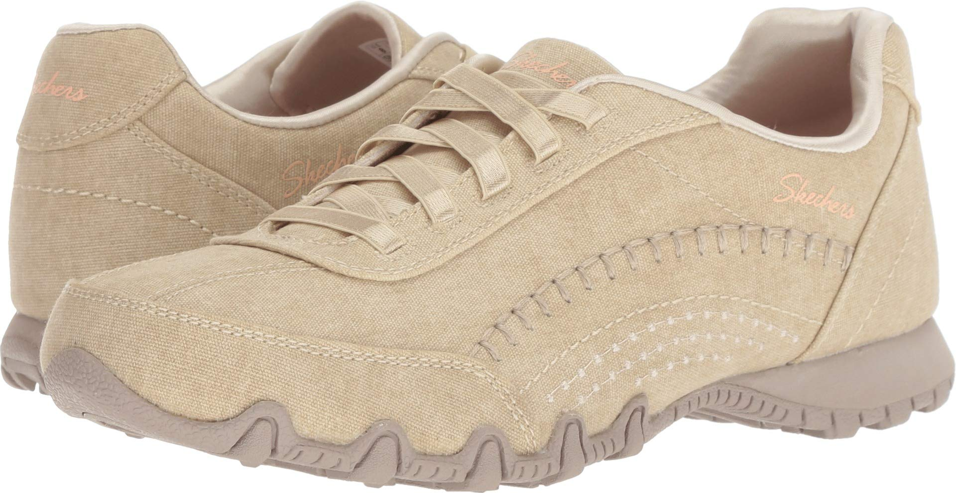 Skechers Relaxed Fit Bikers Layered Womens Slip On Sneakers Natural 8