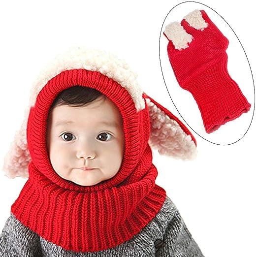 Amazon.com  Girls Boys Winter Animal Hats and Scarves Set Warm ... b61c0368c6a