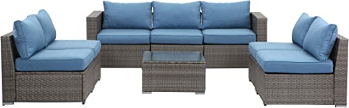 Wisteria Lane Outdoor Furniture Set 8 PCS Wicker Sectional Sofa
