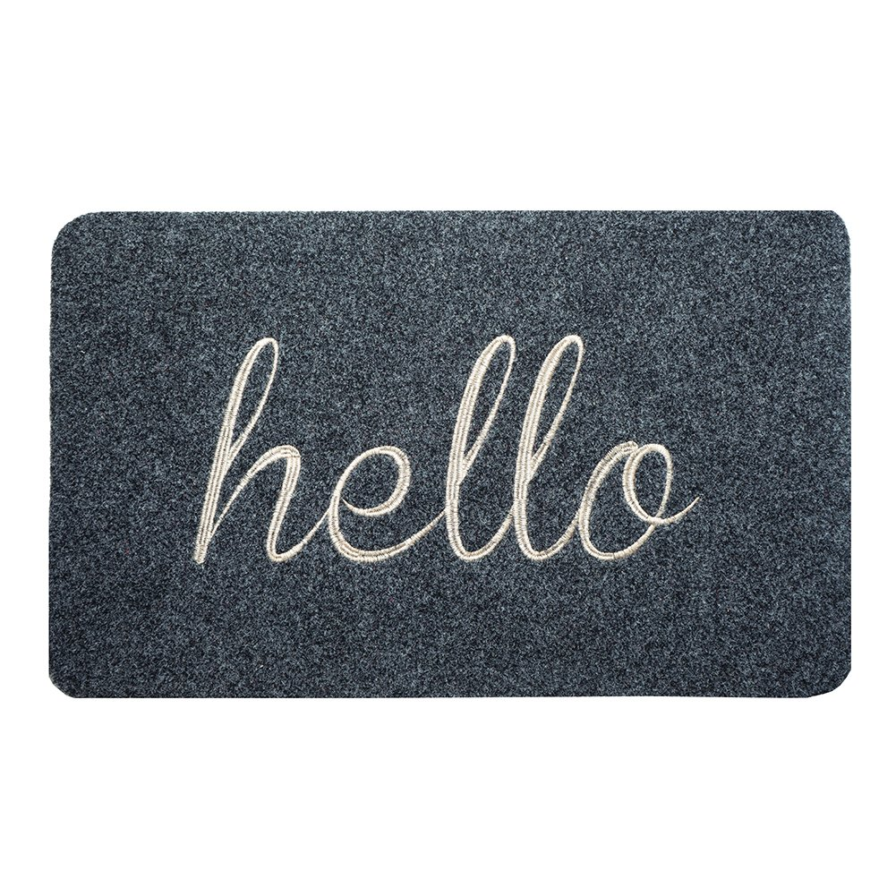 BIGA Hello Front Welcome Entrance Door Mats for Indoor Outdoor Entry Garage Patio High Traffic Areas Shoe Rugs