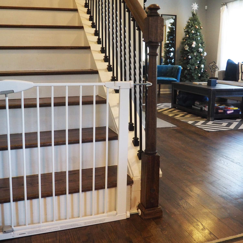 Baby Gate Guru Adaptador Extra Largas M10 para Barandilla de Escaleras 10mm, Blanco Paquete de 2 Piezas para Barreras de Seguridad para Beb/és y Mascotas Montadas a Presi/ón 10mm