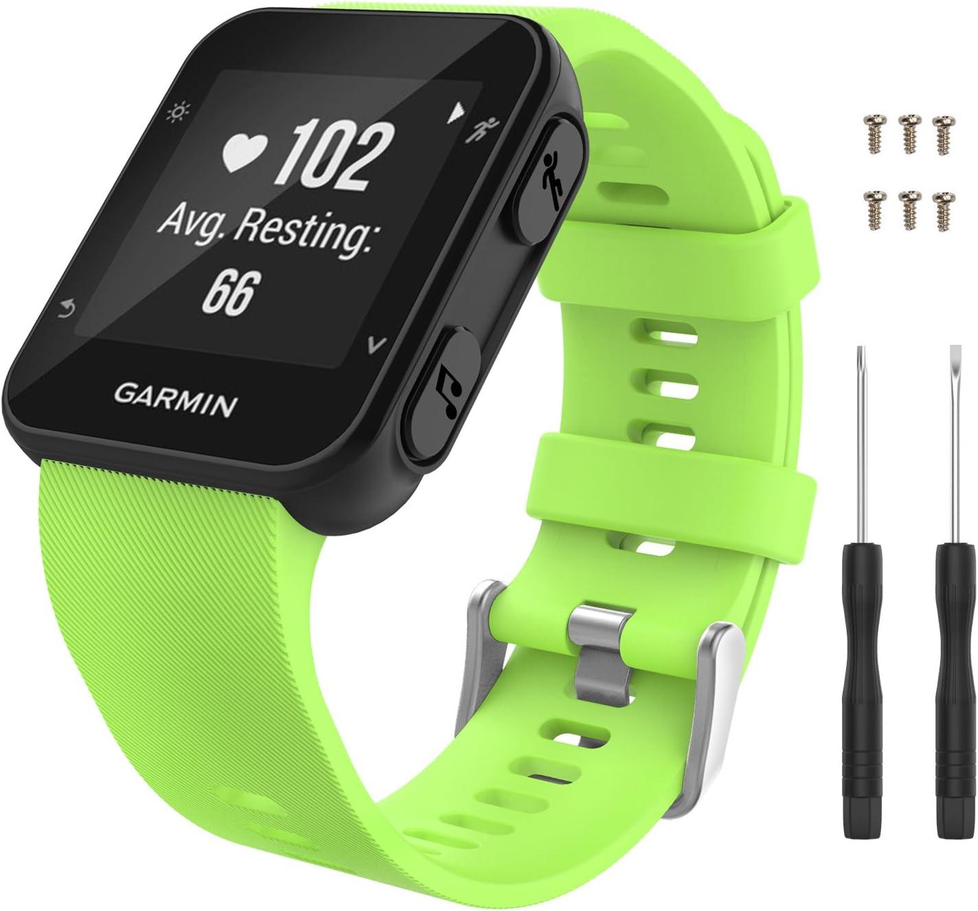 Malla para reloj Garmin Forerunner 35 (con tornillos) verde