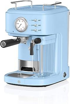 Swan Retro Semi-Automatic Blue Espresso Machine