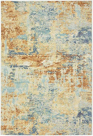 Luxe Weavers Kingsbury Abstract 8×10 Multi Modern Area Rug
