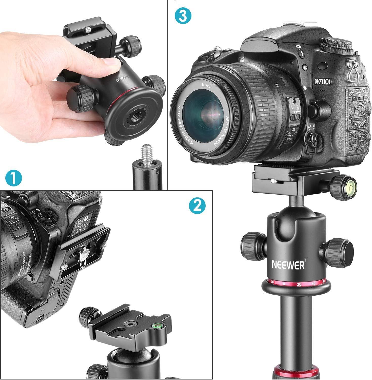 Neewer Stativköpfe Berufsmetall 360 Grad Drehbarer Kamera
