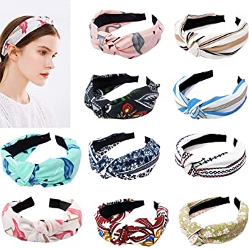 Ladies Twist Hair Bands Cross Headwrap Elastic Knot Hairbands Headwears Fashion