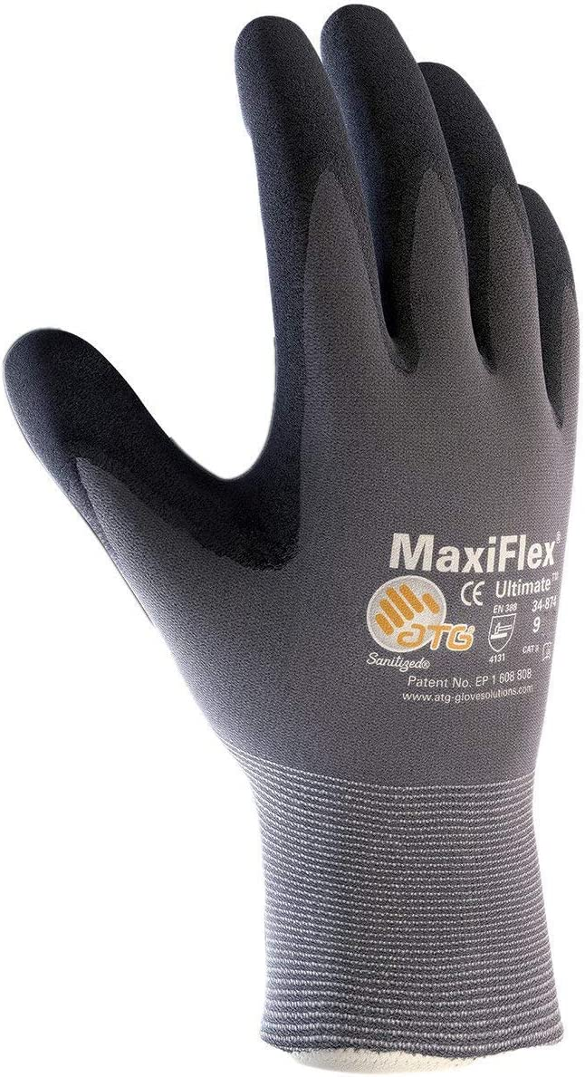 3 Pack 34-874 XS MaxiFlex Ultimate Nitrile Grip Work Gloves Size X-Small (3)