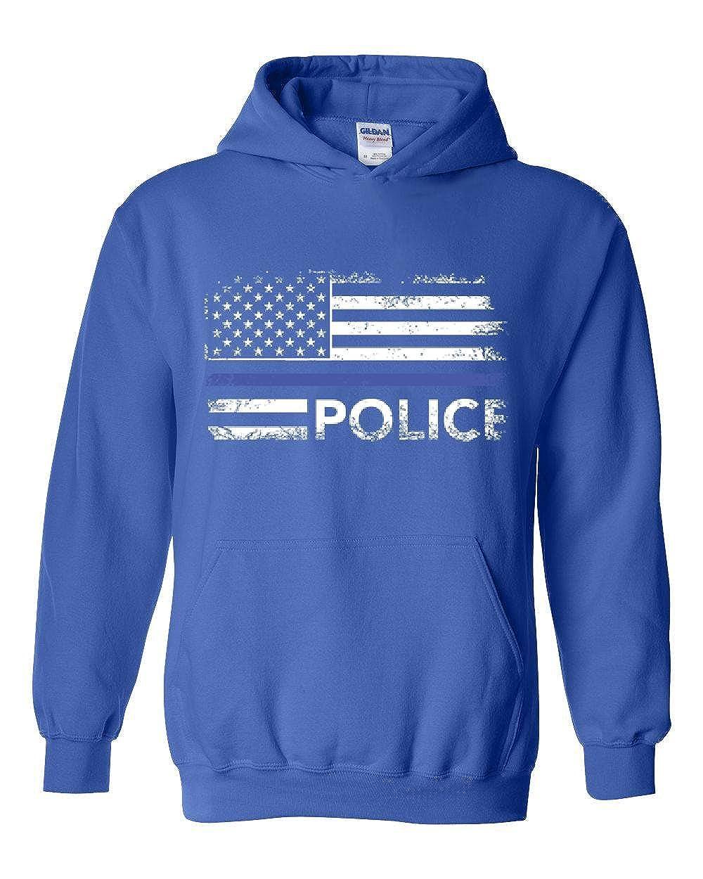 Police Hoodie Police American Flag Mens Hoodie Sweatshirt