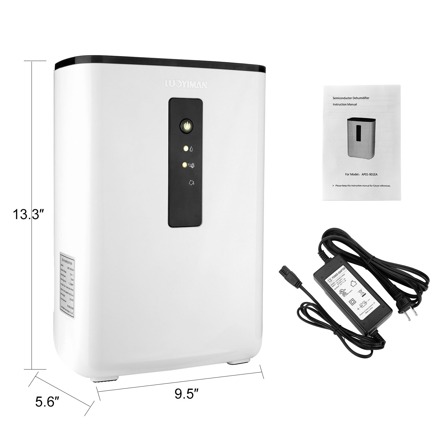 LUOYIMAN Dehumidifier Electric Home Dehumidifier Quiet Operation with UV Sterilization (2.5 Liter) by LUOYIMAN (Image #6)