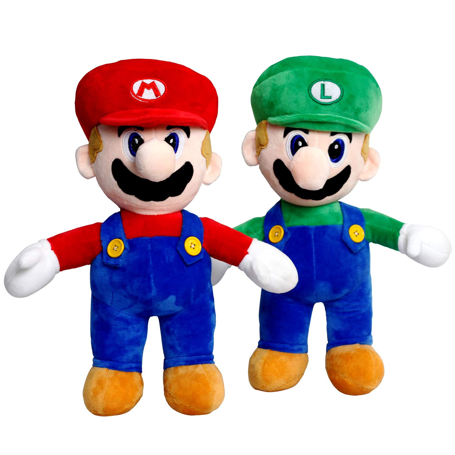 GOOSEN78 Super Mario Plush, Mario and Luiqi Plush Toys, Soft Stuffed Plush Toys,Set -14in by GOOSEN