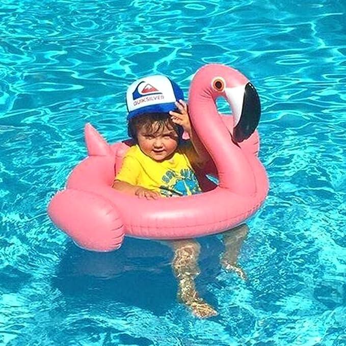 Amazoncom Amxylife Pink Flamingo Baby Swim RideOn Float Swimming