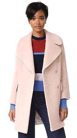 Whistles Women&39s Penny Double Coat Pink Medium at Amazon Women&39s
