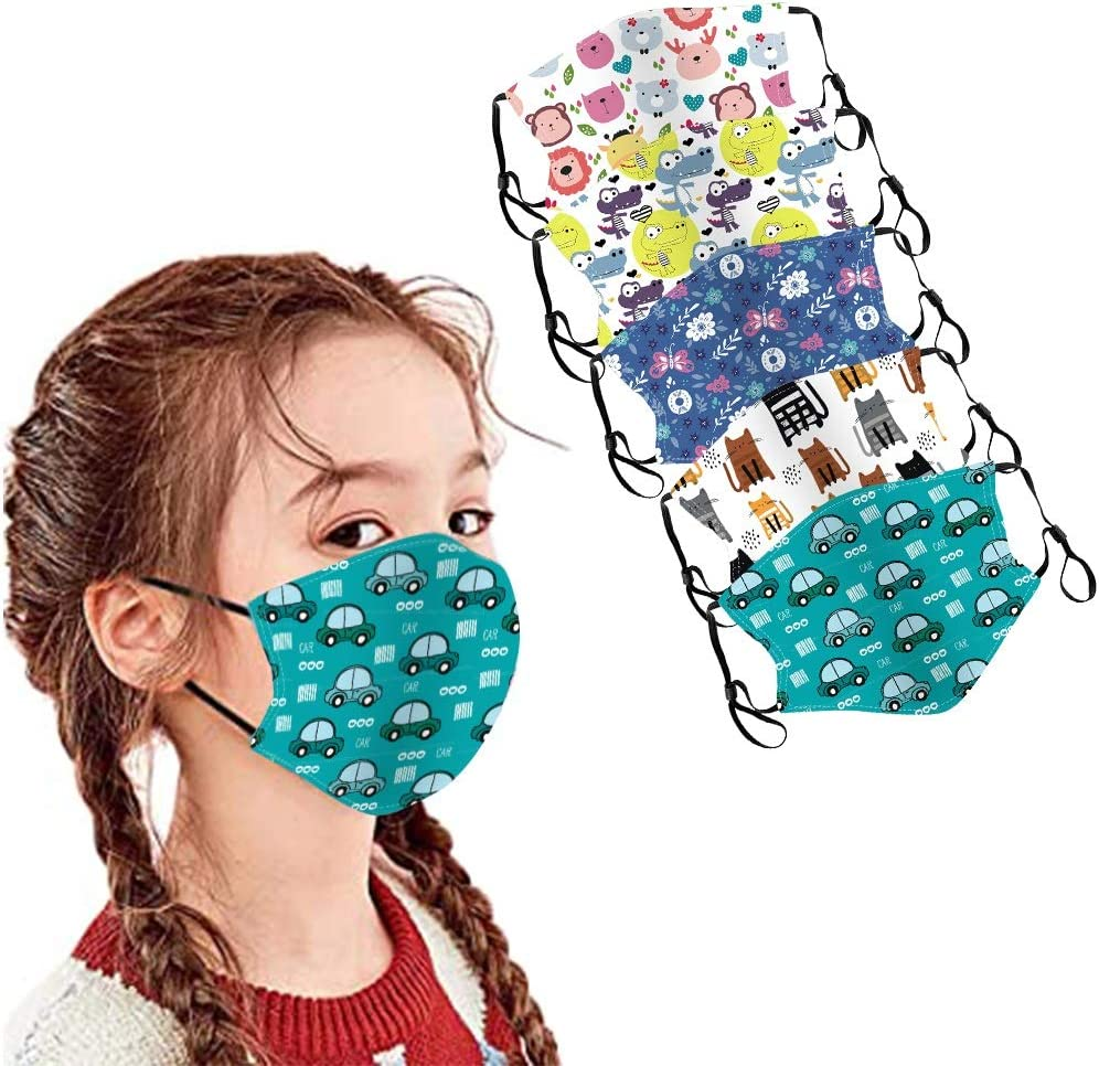 5PCS Kids Face Covering Cotton Filter Washable Cute for Kids WAS £10.99 NOW £4.90 w/code WIQMX469 @ Amazon