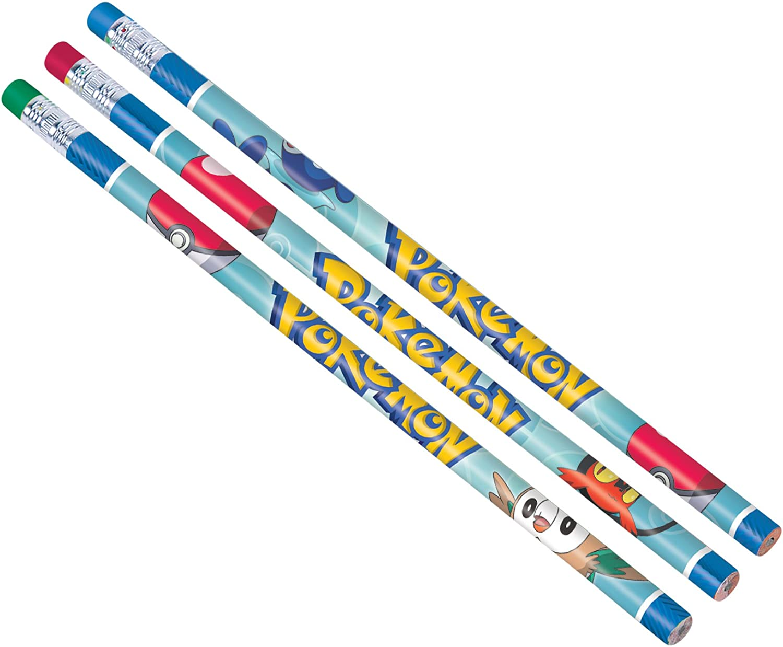 12 Count Pokemon Pencil Favors Multicolor