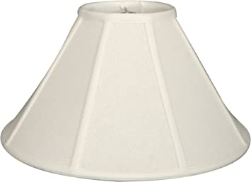 Royal Designs Empire Lamp Shade Linen White 6 X 18 X 11 5