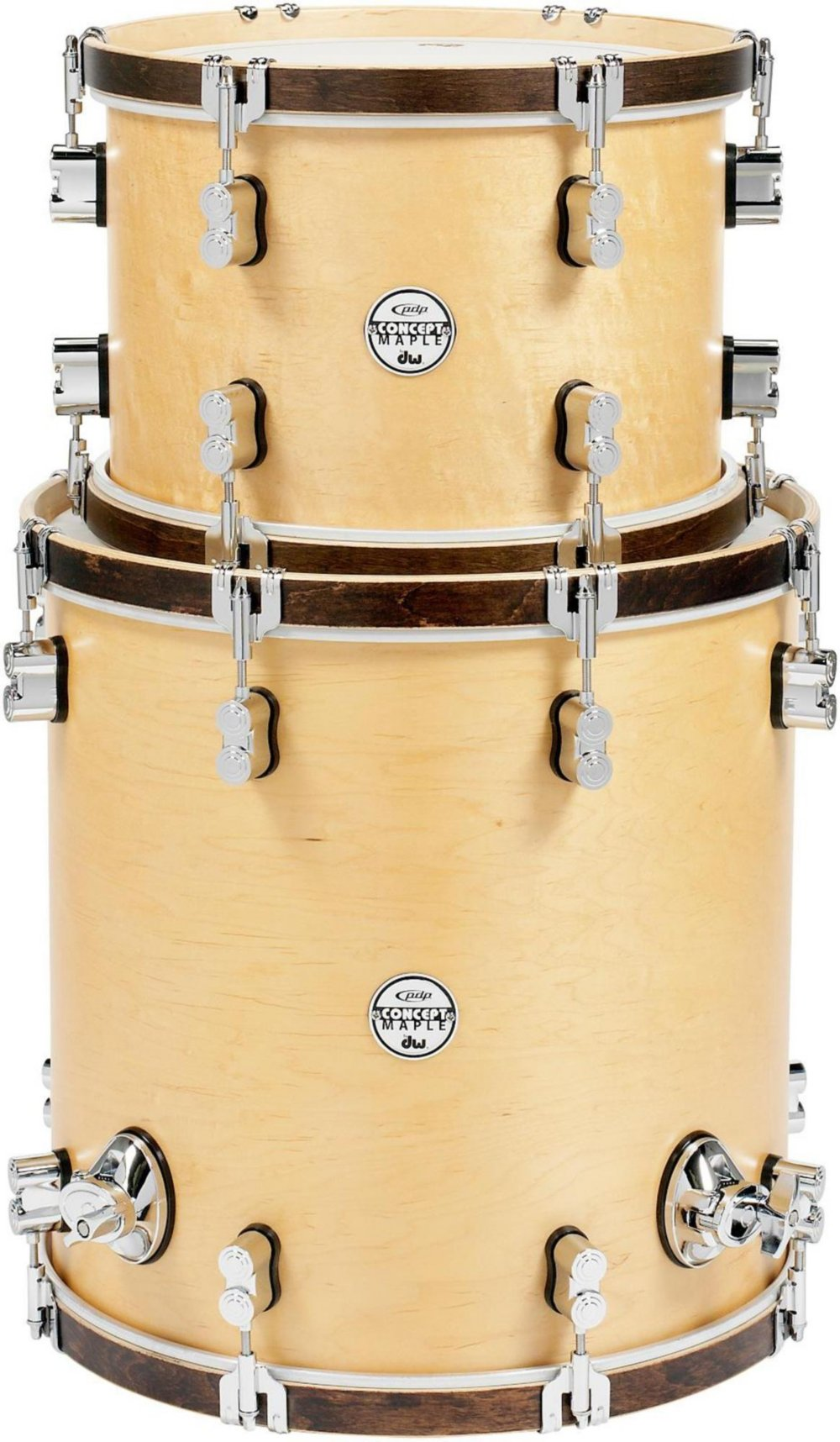 PDP Concept Maple Classic 2-piece Tom Pack - 13''/16'' - Natural/Tobacco