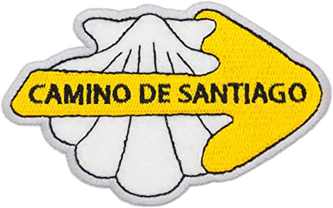 Finoly Parches Camino de Santiago Bordado Termoadhesivo Varios Diseños Xacobeo Jacobeo (Parche Bordado Termoadhesivo Concha con Flecha Camino Santiago): Amazon.es: Hogar
