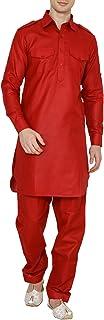 Royal Kurta Men's Linen Pathani Suit ROYAL_10-Large-$P