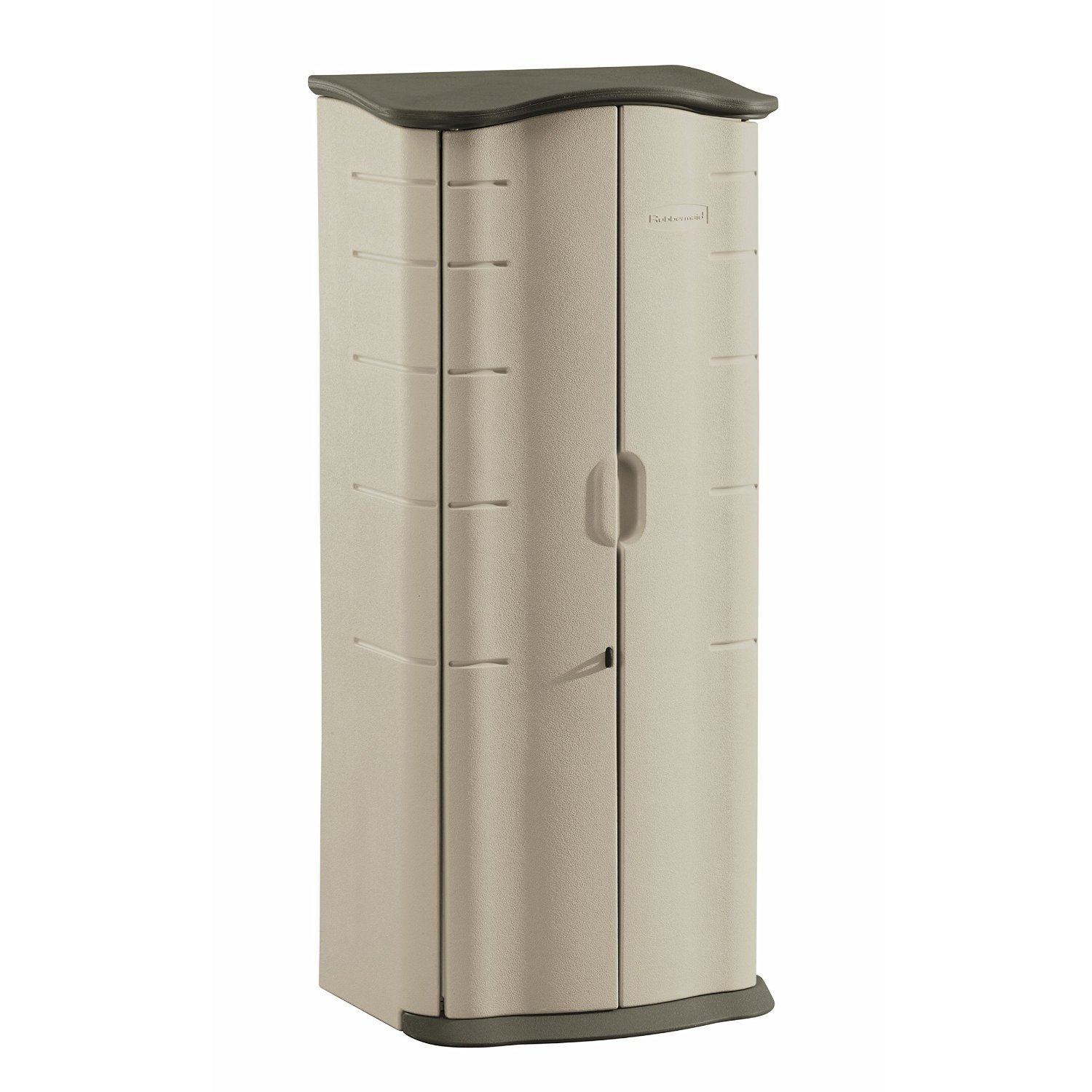 Rubbermaid FG374901OLVSS Vertical Storage Shed, Small, Beige by Rubbermaid