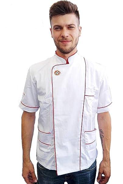 Giacche PIZZAIOLO Grembiuli Cuoco per MasterChef Camici Lavoro Ristorante   Amazon.it  Abbigliamento b4b00fc750c0