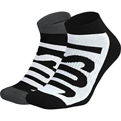 Calcetines Nike - Sportswear No-Show (2 Pair) negro/blanco/carbón ...