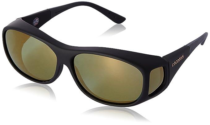056f7e55d98c Cocoons Slim Line M Rectangular Polarized Sunglasses Black  Amazon ...