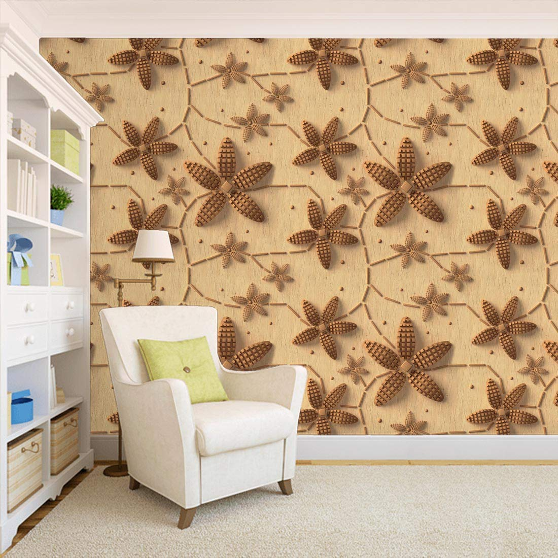 100yellow 3D Design Printed Peel And Stick Self Adhesive Wall Paper/Wall Sticker For Wall Decor-Ideal For Office- 26.7 Sqft (B07B9HJV8X) Amazon Price History, Amazon Price Tracker