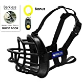 Dog Muzzle,Soft Rubber Basket Muzzles for Dog, Best to Prevent Biting, Chewing and Barking, Allows Drinking and Panting, Used with Collar