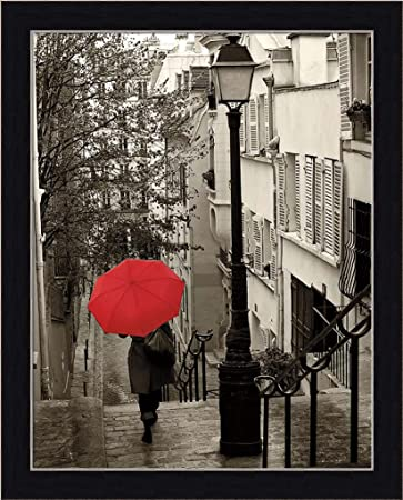 Amazon com paris stroll ii sue schlabach red umbrella photography art print framed picture wall décor artwork posters prints