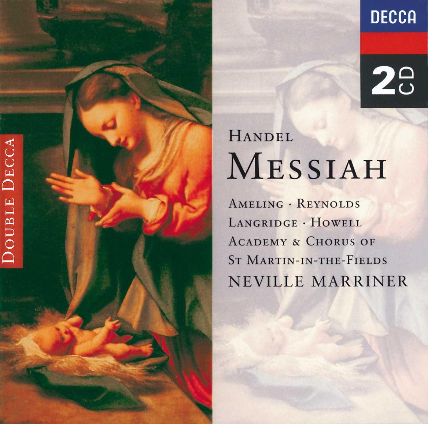 Handel - Messiah / Ameling · A. Reynolds · Langridge · Howell · Marriner by Decca