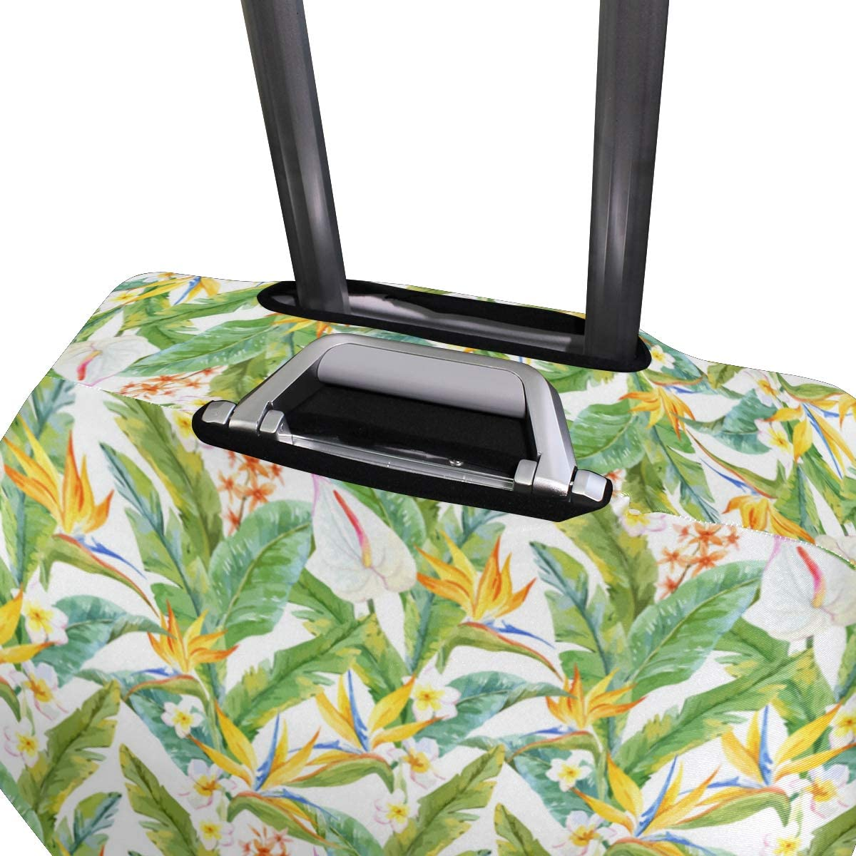 Banana Leaf Long Charm Traveler Lightweight Rotating Luggage Protector Case Can Carry With You Can Expand Travel Bag Trolley Rolling Luggage Protector Case