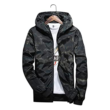 Feroni 2018 Mens Spring Summer Hood Jackets Fashion ...