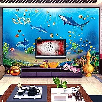 Carta da parati fotografica Hd Underwater World Shark ...