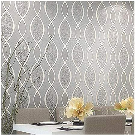 blooming wall extra thick non woven modern leaf flow embossed textured wallpaper for livingroom bedroom 20 8 in32 8 ft 57 sq ft gray beige
