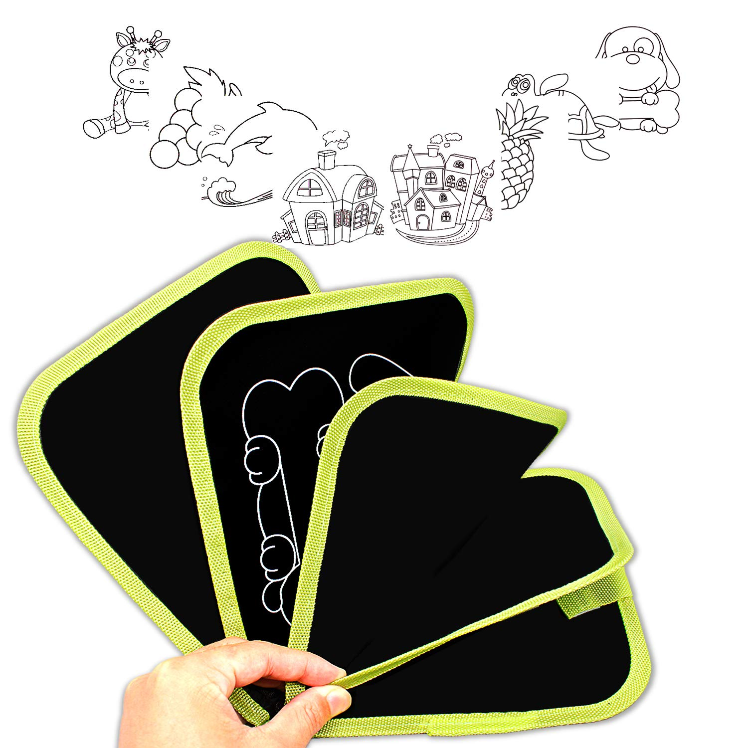 HONGKIT Doodle Book with Dust-Free Chalk for Kids Gift and Toys