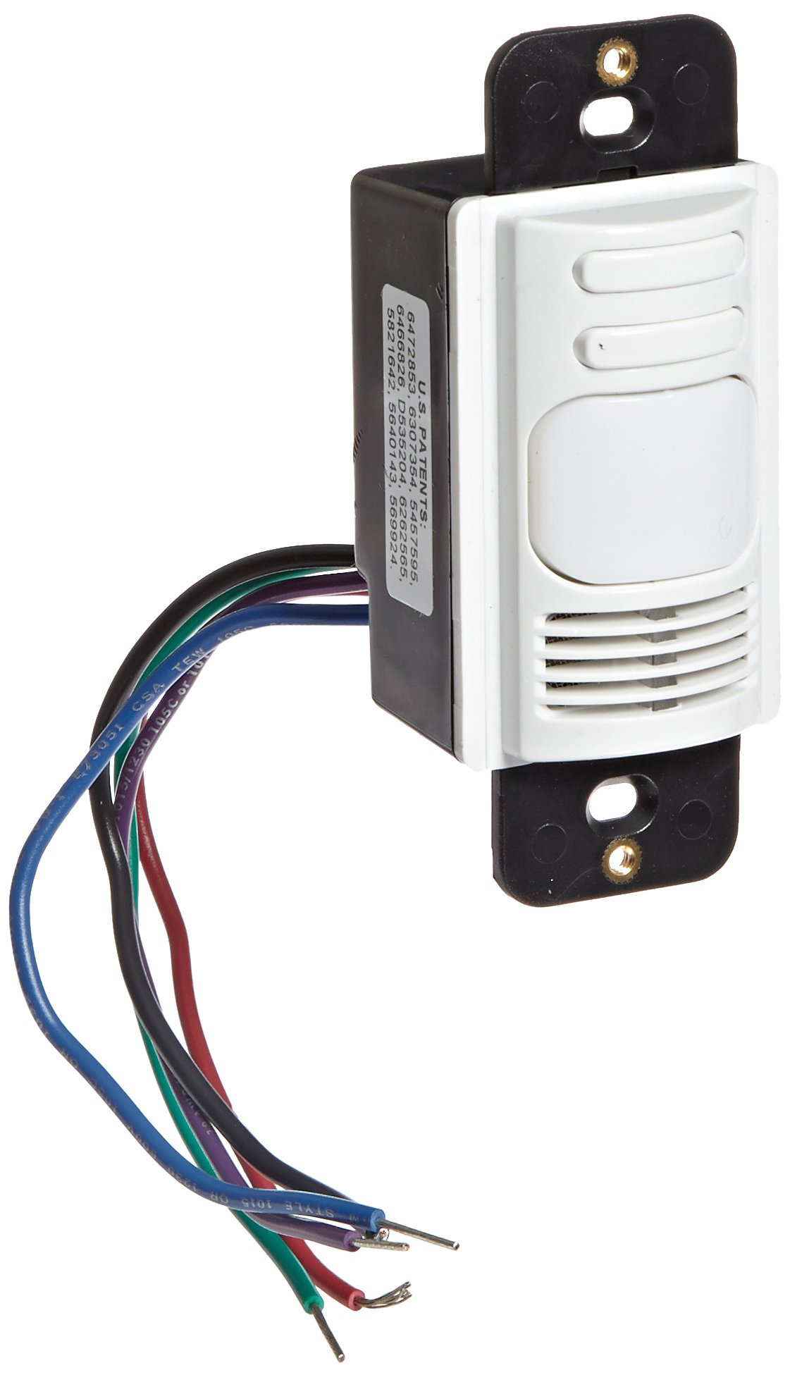 Hubbell AD1277W2 Adaptive Technology Wall Switch, Ultrasonic and Passive Infrared, White 2 Buttons For Manual/Auto Control, 2 Circuits
