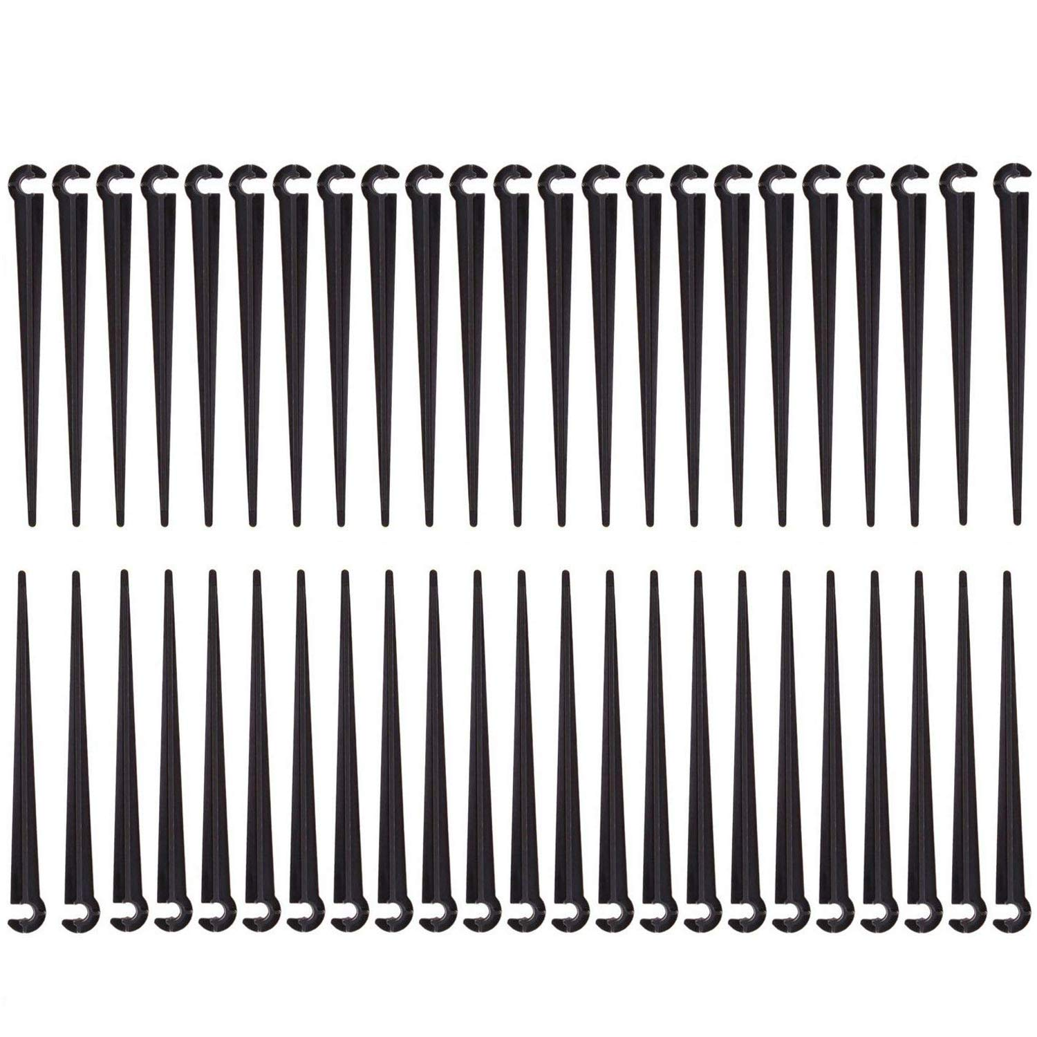 Orgrimmar 250PCS Irrigation Drip Support Stakes 1/4-Inch Tubing Hose Flower Beds, Vegetable Gardens, Herbs Gardens